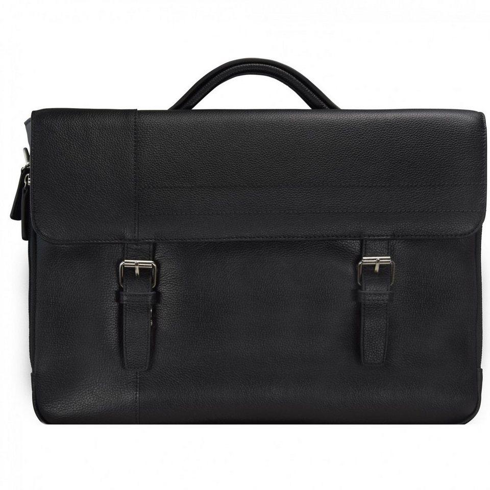 d & n Business Line Aktentasche Leder 40 cm in black