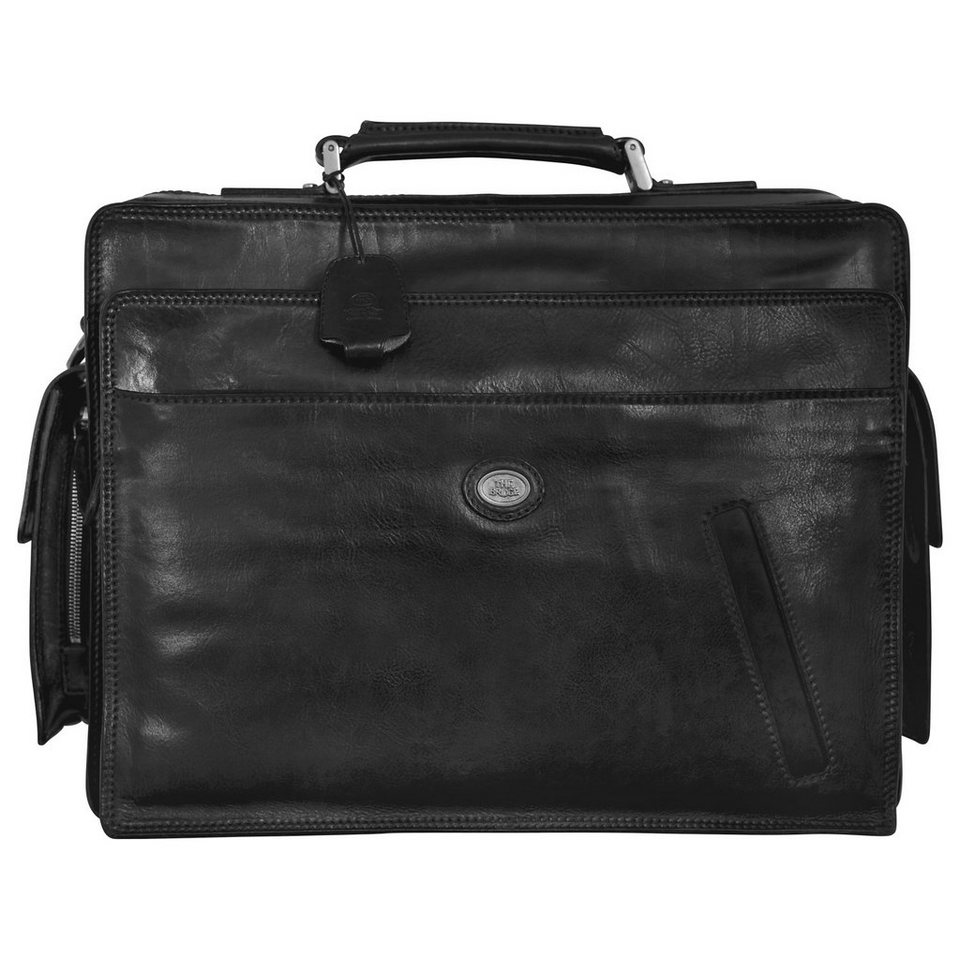 The Bridge Story Uomo Bordtasche Aktentasche Leder 45 cm in nero