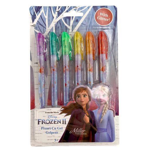 Disney Frozen Kugelschreiber »Bunte Gel-Stifte Gelschreiber mit Glitter, 1 Set, 6 Farben«