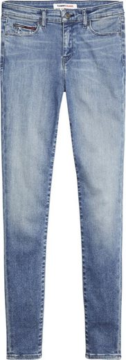 TOMMY JEANS Skinny-fit-Jeans »NORA MR SKNY DYMMBS« mit Fadeout-Effekten