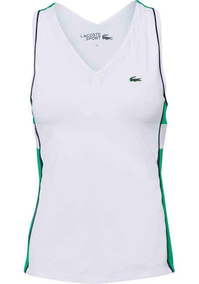 Lacoste Tennisshirt mit coolem Cut-out-Detail