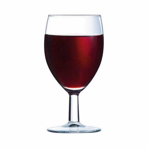 Arcoroc Rotweinglas »Savoie«, Weinkelch Weinglas 120ml Glas transparent 12 Stück