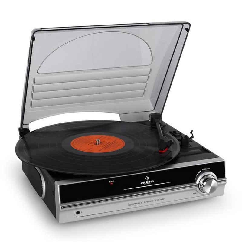 Auna »TBA-928 Plattenspieler integrierte Lautsprecher Line-Out« Plattenspieler