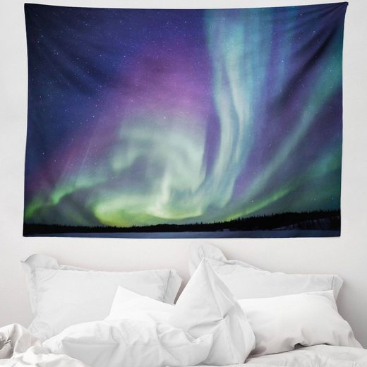 Wandteppich »aus Weiches Mikrofaser Stoff Für das Wohn und Schlafzimmer«, Abakuhaus, rechteckig, Nordlicht Solar Sky Sterne