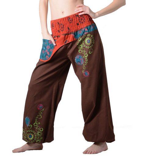 KUNST UND MAGIE Haremshose »Kunst und Magie Damen IBIZA Strandhose Wellnesshose Pluderhose in verschiedenen Farben«