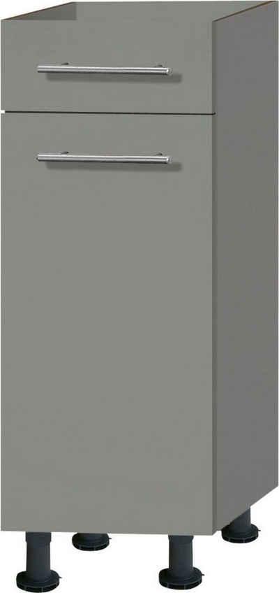 OPTIFIT Unterschrank »Bern« 30 cm breit, mit 1 Tür, mit 1 Schubkasten, mit höhenverstellbaren Füßen, mit Metallgriffen