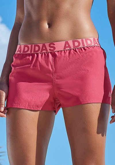 adidas Performance Badeshorts, Mit Markenschriftzügen