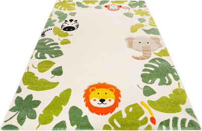 Kinderteppich »E-Safari«, Esprit, rechteckig, Höhe 13 mm, Motiv Dschungel Tiere