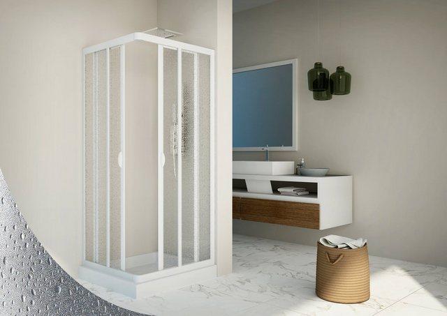 Duschen und Zubehör - Eckdusche »Vela«, BxT 90x90 cm, Kunststoff, variabler Verstellbereich, BxH 90 x 185 cm  - Onlineshop OTTO
