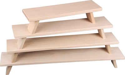 Weigla Schwibbogen-Fensterbank, FSC®-zertifiziertes Buchenholz, buche-hell, Höhe ca. 11 cm