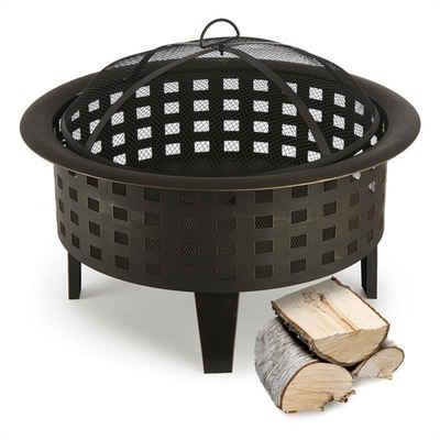 blumfeldt Feuerschale »Boston Feuerschale Ø 70 cm Stahl geschwärzt«, Sicheres Lagerfeuer und praktische Wärmequelle mit 70 cm Durchmesser für die Gartenparty
