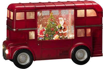 "KONSTSMIDE LED Laterne, LED Wasserlaterne, rot, ""Bus mit Weihnachtsmann"""
