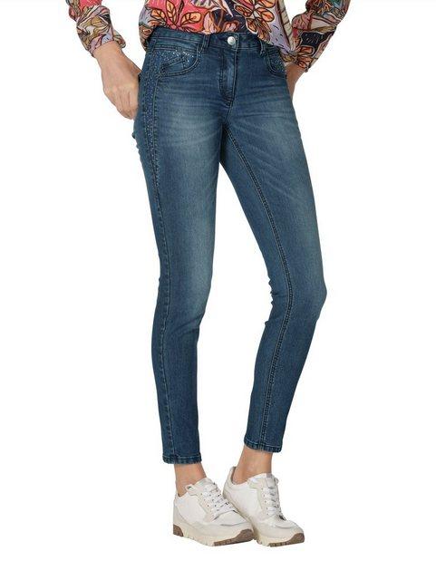 Hosen - Amy Vermont 5 Pocket Jeans mit Strassstein Verzierung ›  - Onlineshop OTTO