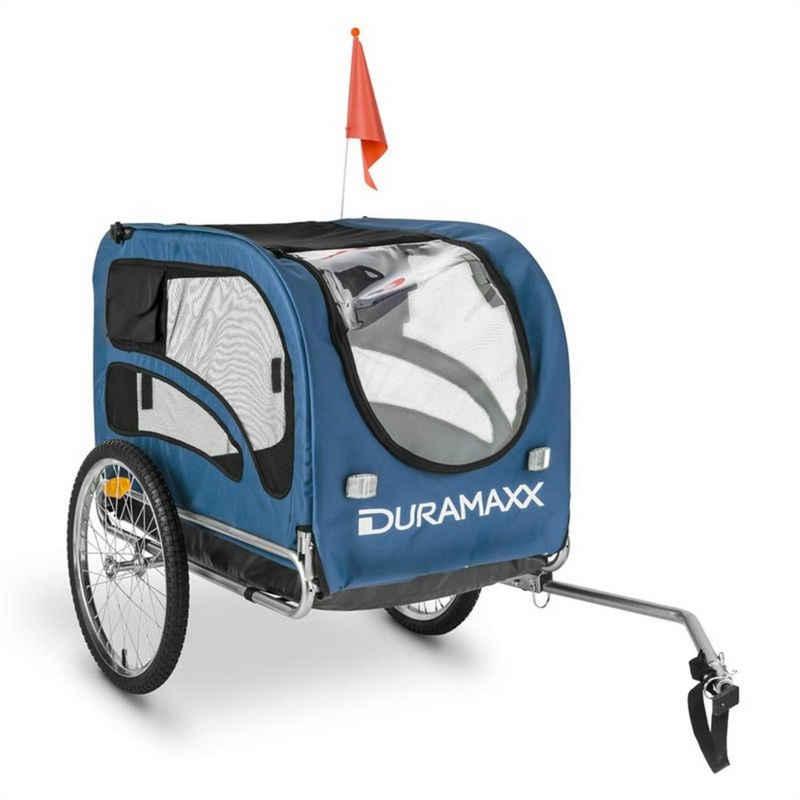 Duramaxx Fahrradkinderanhänger »King Rex Fahrradanhänger Hundeanhänger 250l 40kg Stahlrohr«
