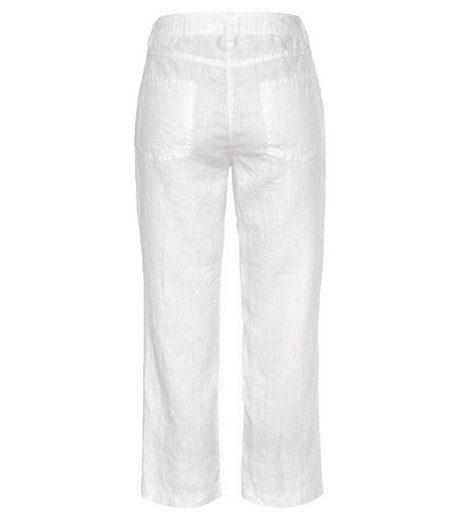 MAC 7/8-Hose »MAC Nora 7/8 Jeans luftige Damen Sommer-Hose aus Leinen Urlaubs-Hose Strand-Hose Weiß«