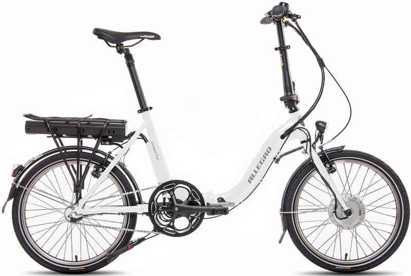 ALLEGRO E-Bike »Compact 3 Plus 374 White«, 3 Gang Shimano, Nabenschaltung, Frontmotor 250 W