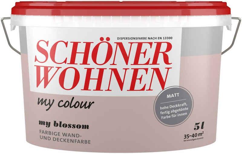 SCHÖNER WOHNEN-Kollektion Wand- und Deckenfarbe »my Colour - my blossom«, matt, 5 l