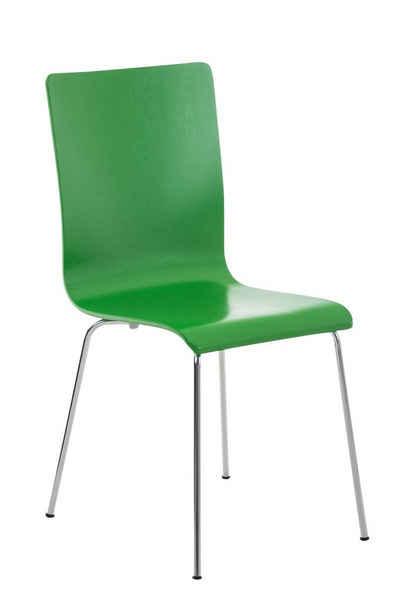CLP Besucherstuhl »Pepe«, mit ergonomisch geformten Holzsitz und Metallgestell