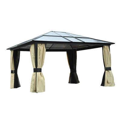 Outsunny Pavillon »Luxus Pavillon mit lichtdurchlässigem Dach«