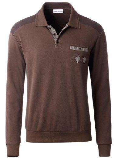 Marco Donati Sweatshirt mit Polokragen