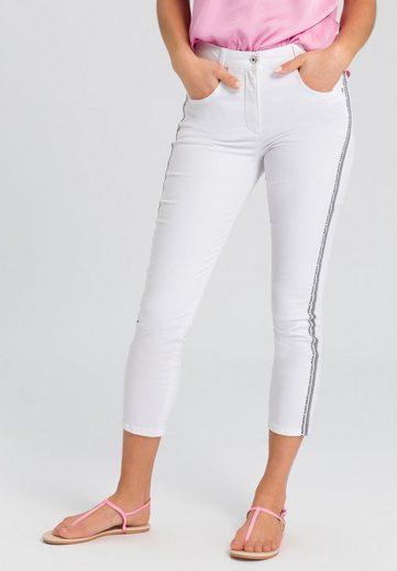 MARC AUREL 5-Pocket-Jeans mit seitlichem Typoband