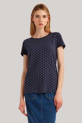 Finn Flare T-Shirt mit stylischem Punkteprint
