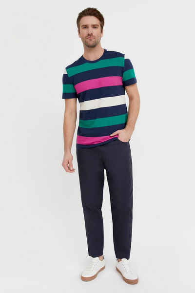 Finn Flare T-Shirt mit farbigem Streifenprint