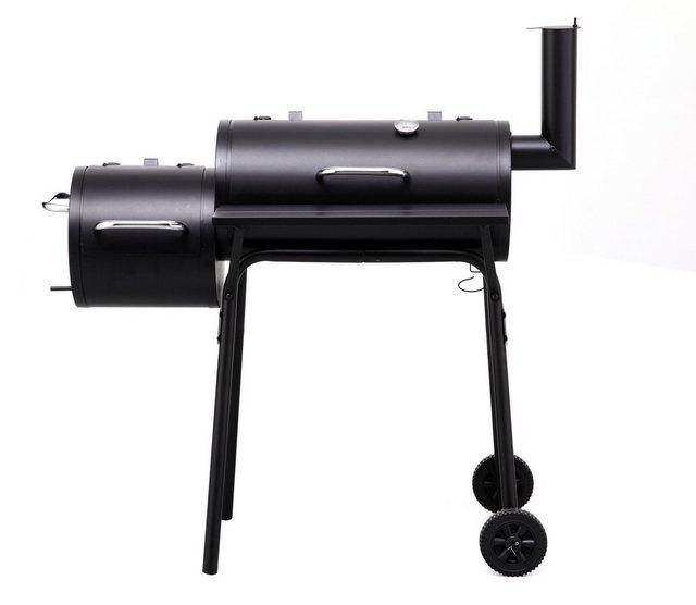 Tepro Holzkohle-Grill Smoker Wichita mit seitlicher Brennkammer