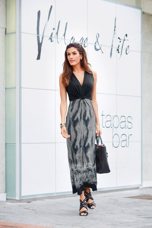 Vivance Jerseykleid in schwarz-bedruckt
