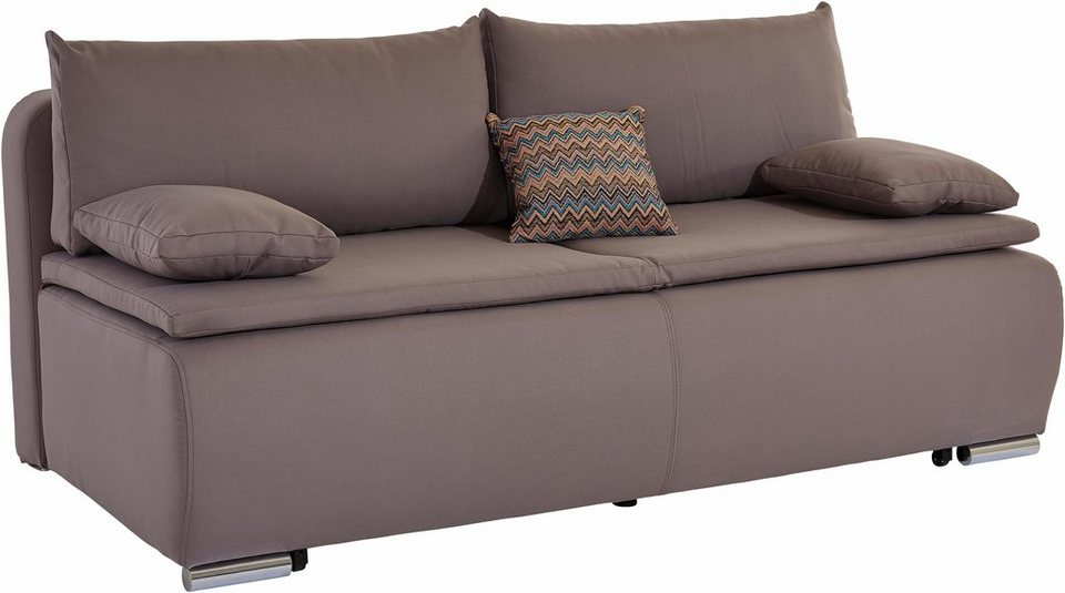 Collection AB Schlafsofa mit Boxspringunterfederung in grau