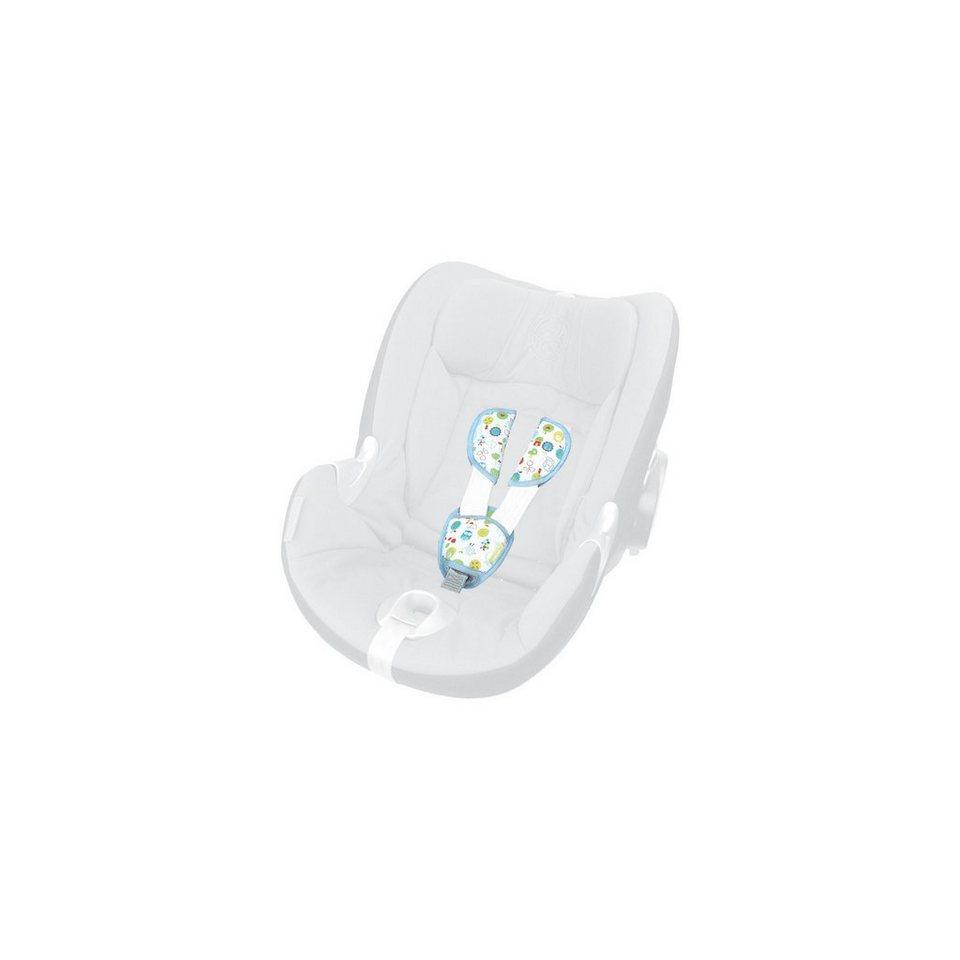 priebes Gurtpolster-Set für Babyschalen, Philip, Eulen in blau