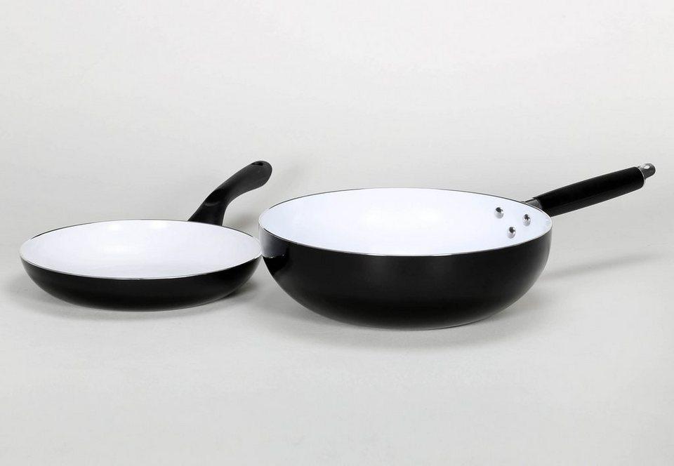 kr ger pfannen set aluminium mit keramikbeschichtung riga 2tlg online kaufen otto. Black Bedroom Furniture Sets. Home Design Ideas