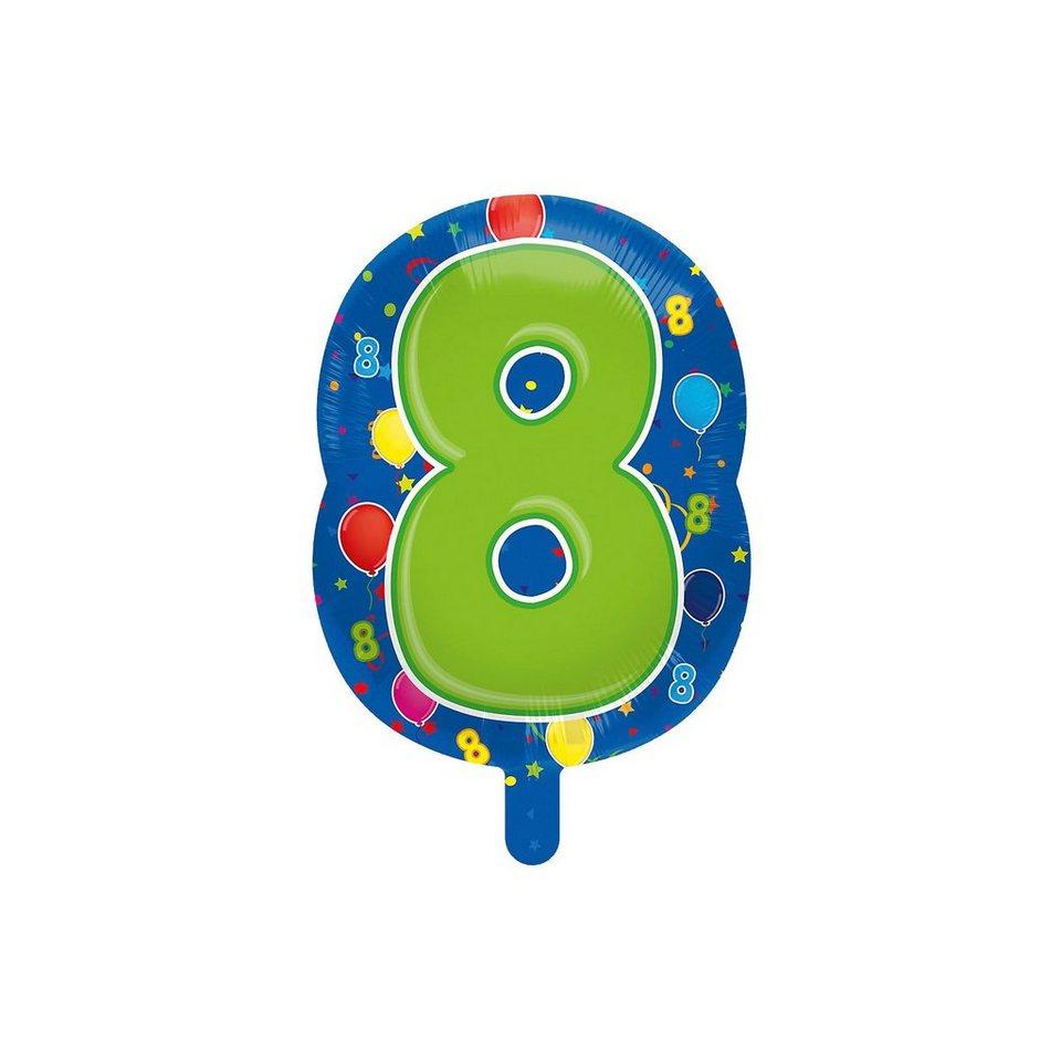 Folienballon Zahl 8