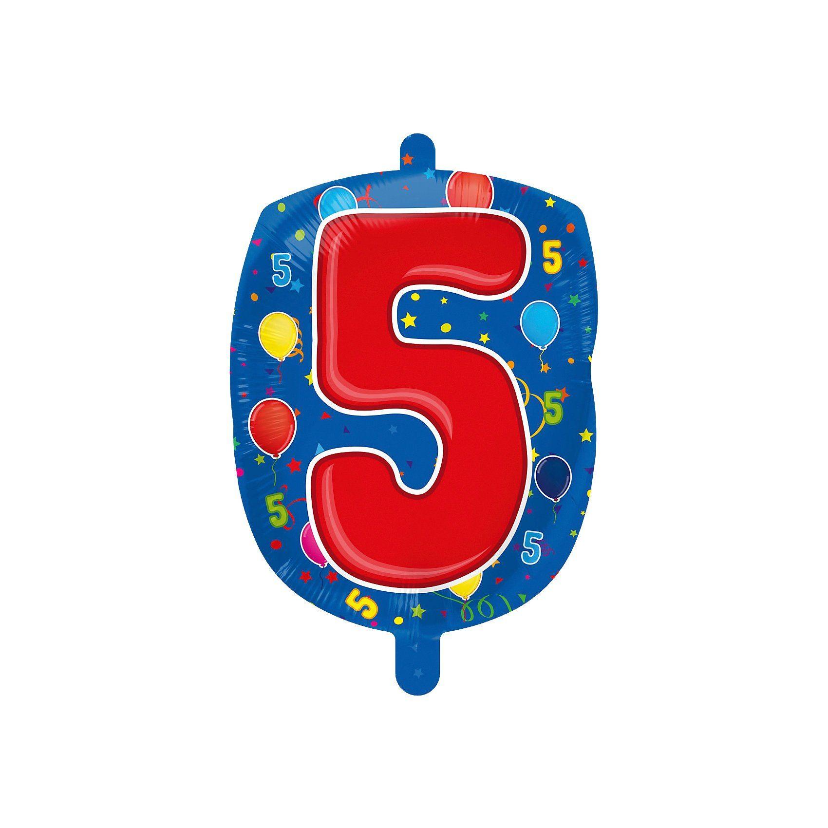 Folienballon Zahl 5