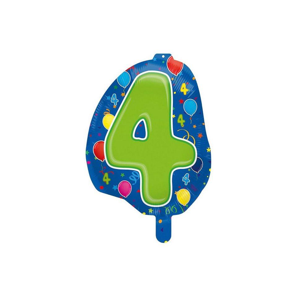 Folienballon Zahl 4