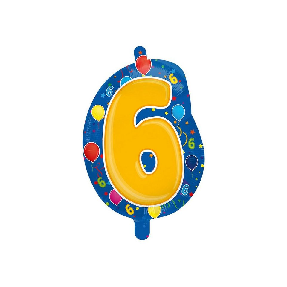 Folienballon Zahl 6