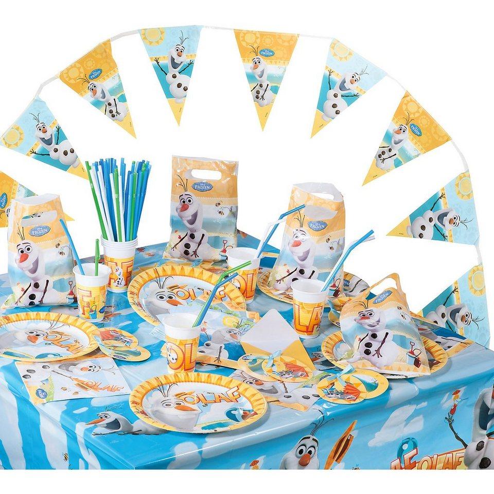 Procos Partyset Disney Die Eiskönigin Olaf, 100-tlg. in gelb