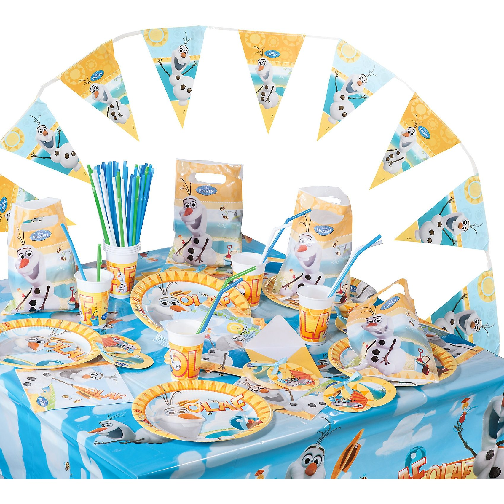 Procos Partyset Disney Die Eiskönigin Olaf, 100-tlg.