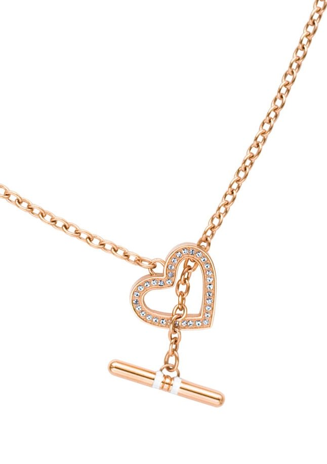 Tommy Hilfiger Jewelry Edelstahlkette Herz, »Classic Signature, 2700638« in roségoldfarben