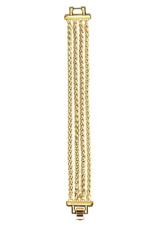 Tommy Hilfiger Jewelry Edelstahlarmband, »Classic Signature, 2700614« in goldfarben