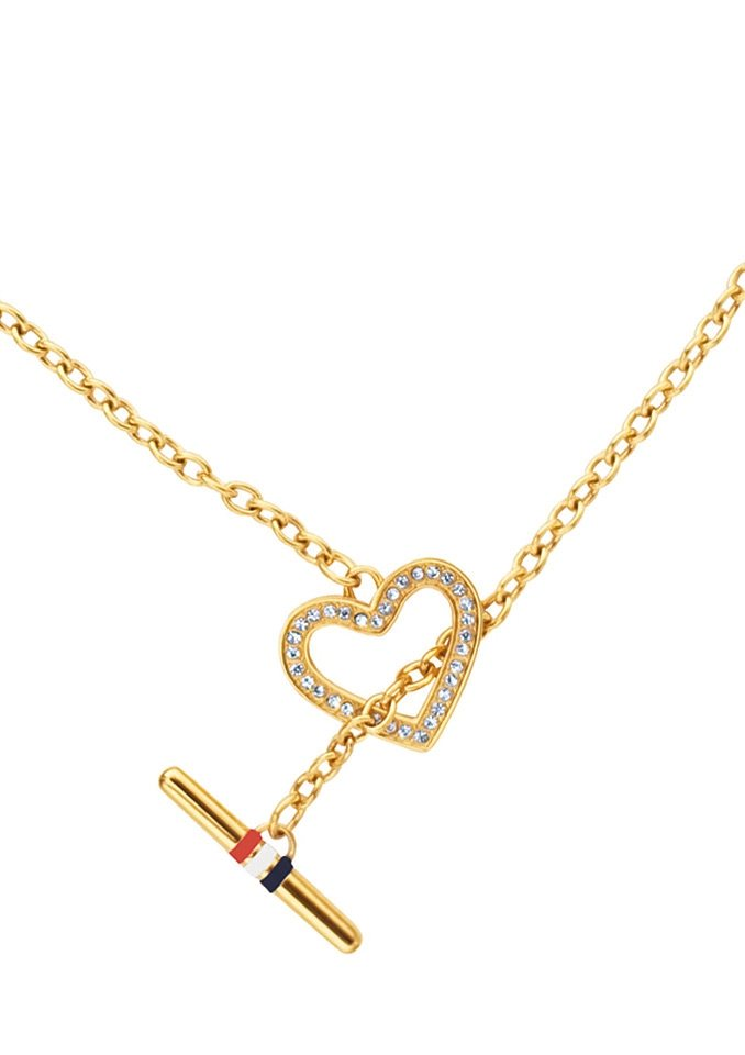 Tommy Hilfiger Jewelry Edelstahlkette Herz, »Classic Signature, 2700637« in goldfarben