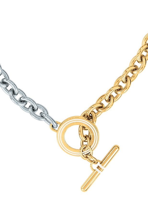 Tommy Hilfiger Jewelry Edelstahlkette, »Classic Signature, 2700629« in silberfarben/goldfarben