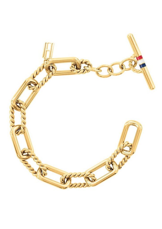 Tommy Hilfiger Jewelry Edelstahlarmband, »Classic Signature, 2700618« in goldfarben