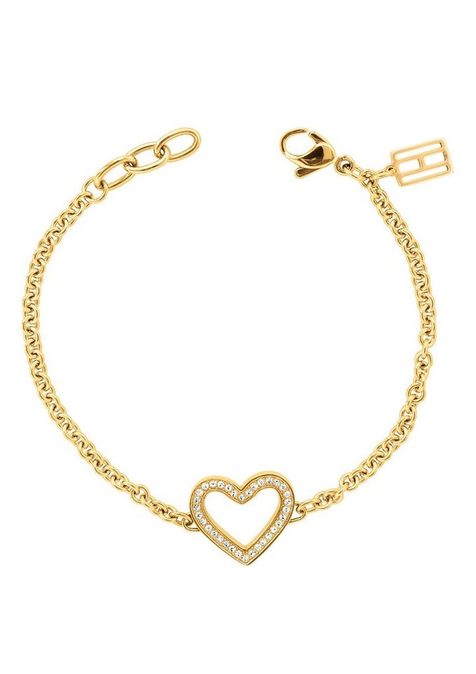 Tommy Hilfiger Jewelry Edelstahlarmband Herz, »Classic Signature, 2700624« in goldfarben