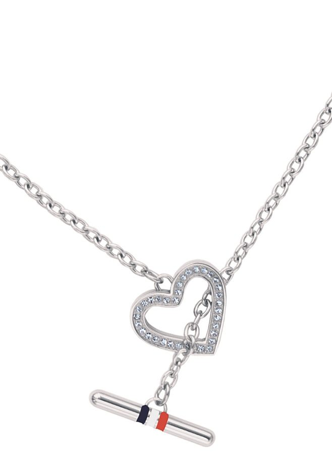 Tommy Hilfiger Jewelry Edelstahlkette Herz, »Classic Signature, 2700636«