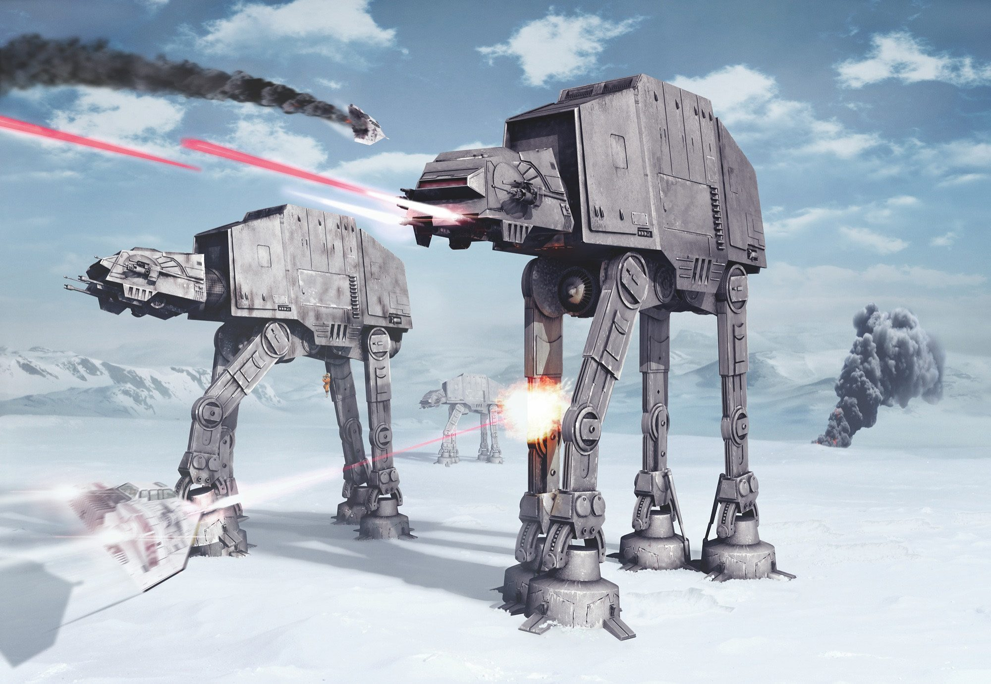 Papiertapete, Komar, »Star Wars Battle of Hoth«, 368/254 cm