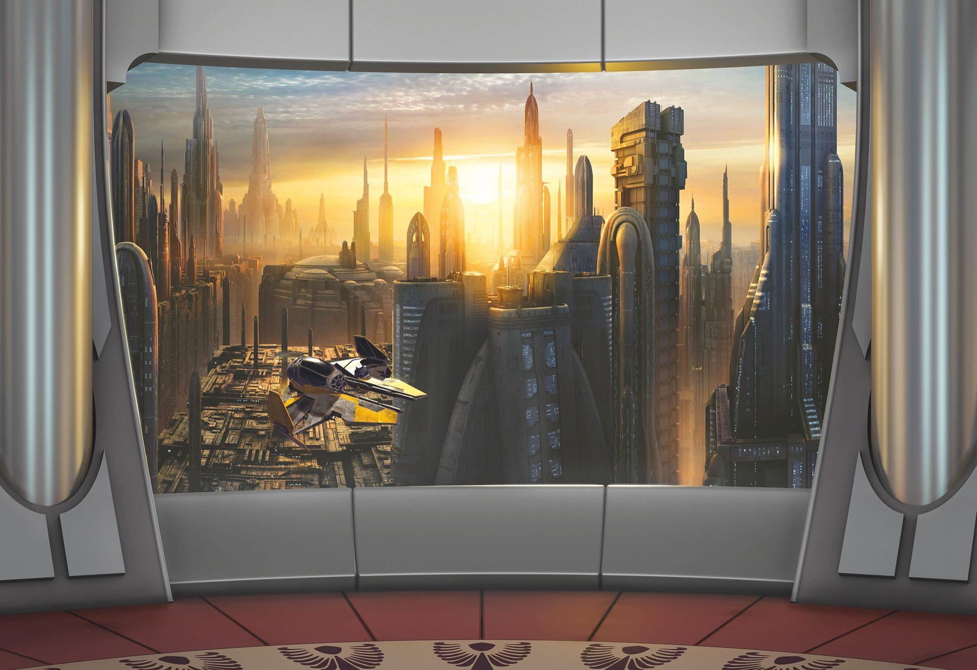 Papiertapete, Komar, »Star Wars Coruscant View«, 368/254 cm