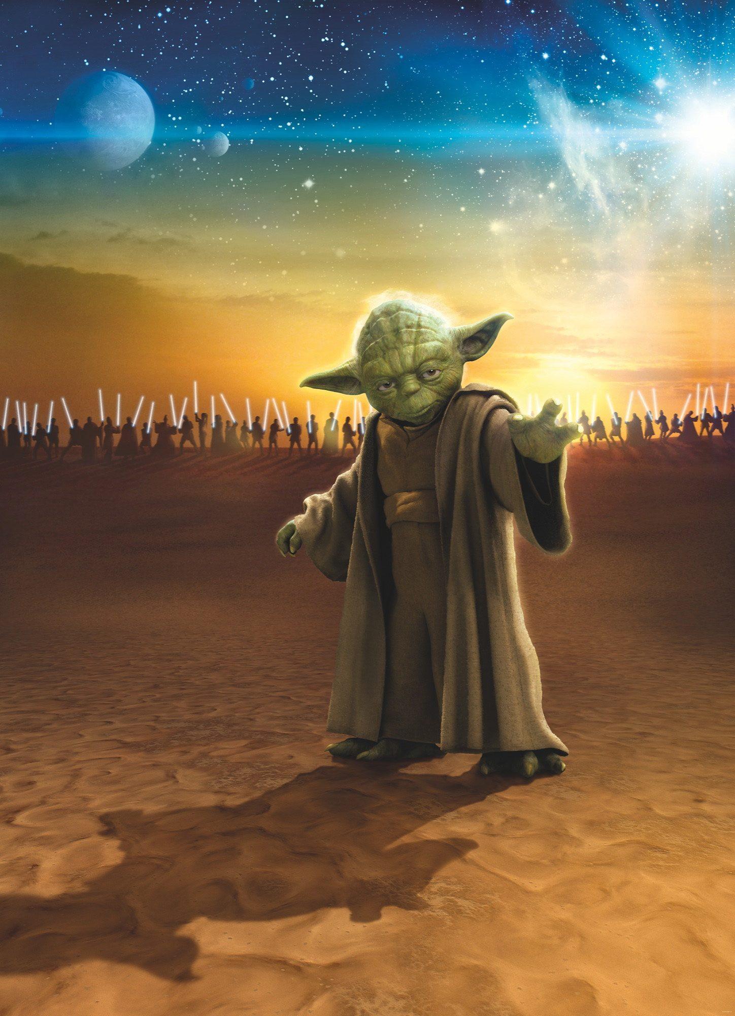 Papiertapete, Komar, »Star Wars Master Yoda«, 184/254 cm