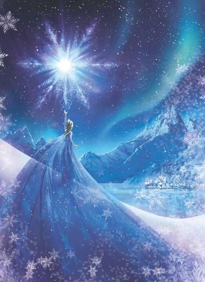 Papiertapete, Komar, »Frozen Snow Queen«, 184/254 cm in blau