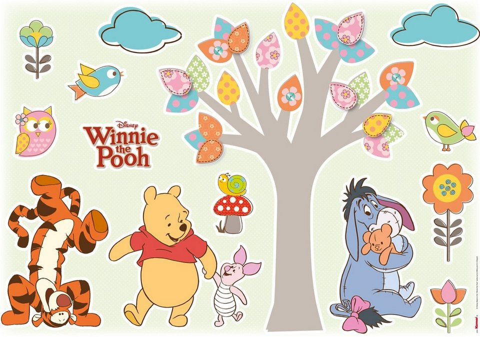 wandsticker komar winnie pooh nature lovers 50 70 cm. Black Bedroom Furniture Sets. Home Design Ideas
